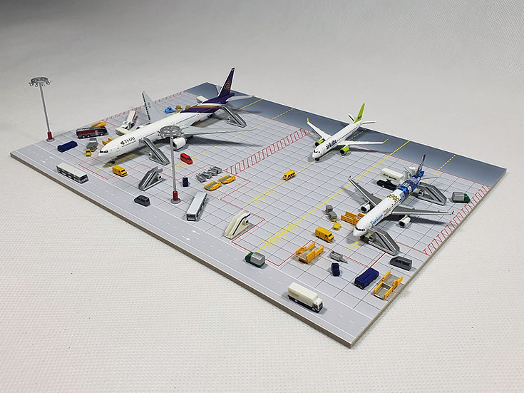 Small Diorama for 4 aircrafts