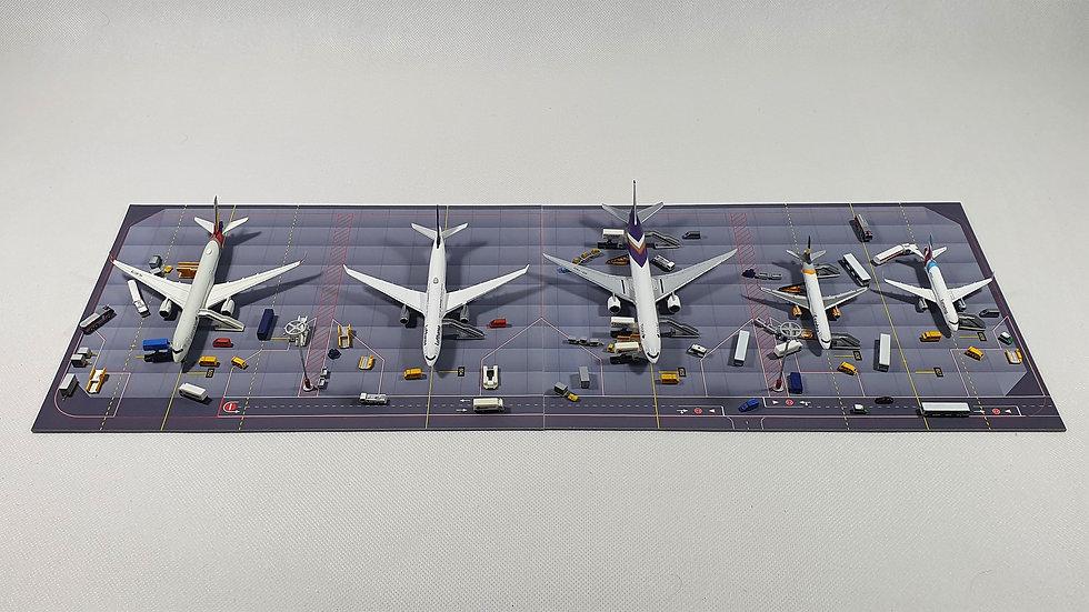 Diorama for 6 aircrafts