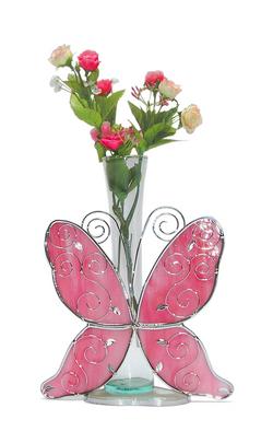XV68 Centro de mesa mariposa vitral