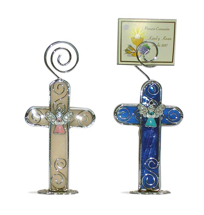 BA100 Cruces con angelito vitral