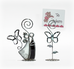 BO101 Novios vitral y mariposa tarjeteros