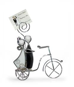 BO104 Novios vitral en bicicleta