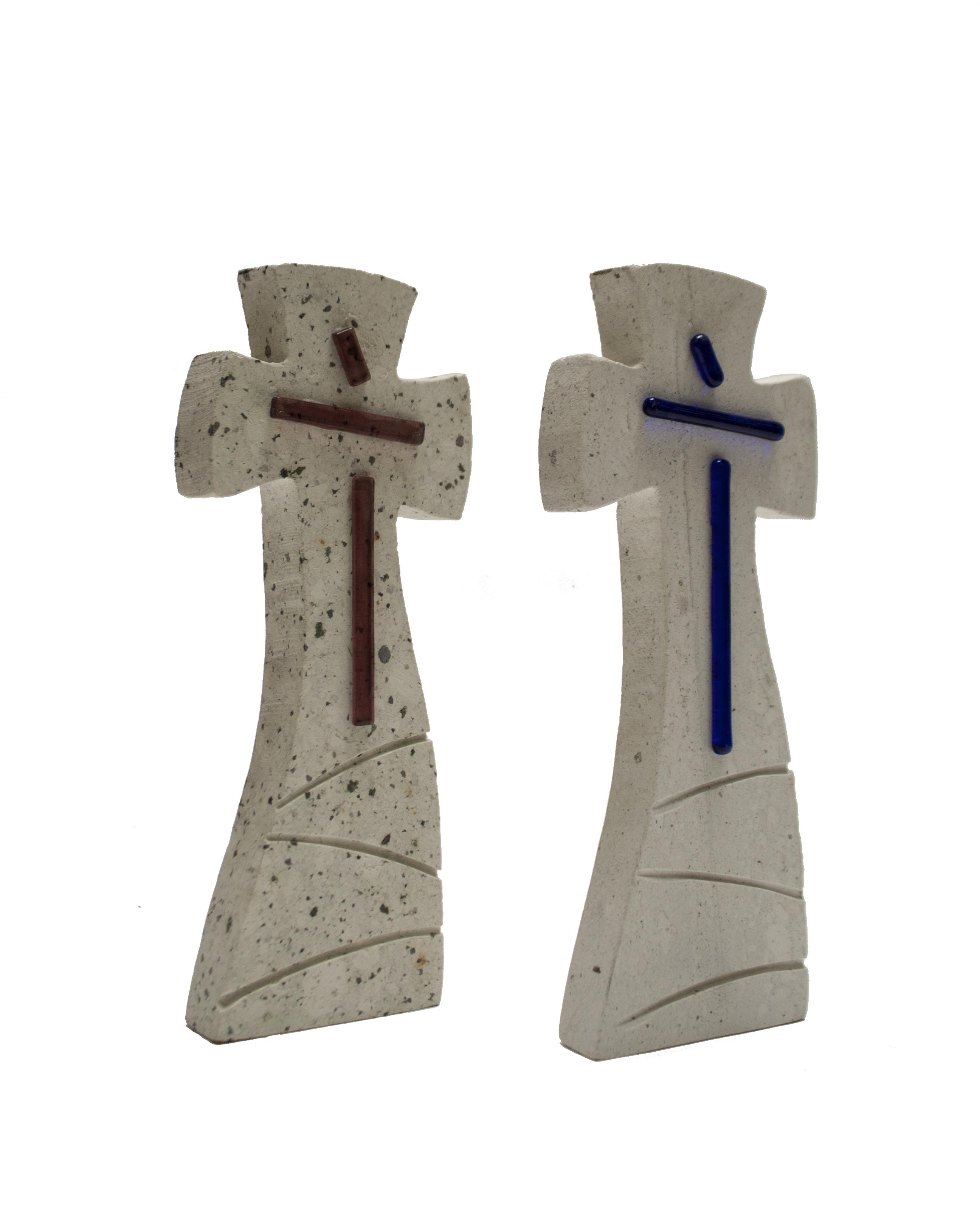 C-080 Cruces de cantera con vidrio