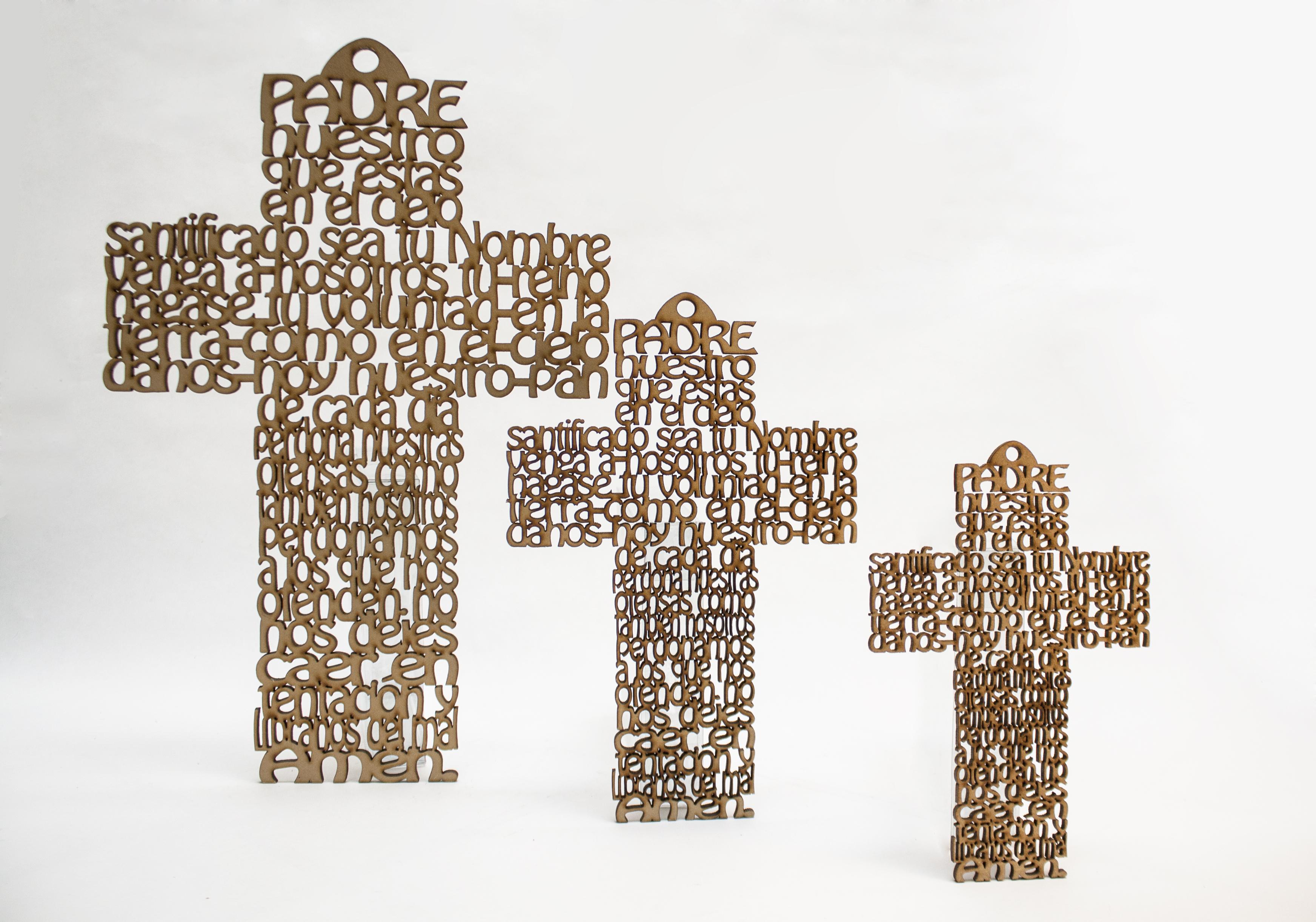 C-065 Cruces caladas de madera