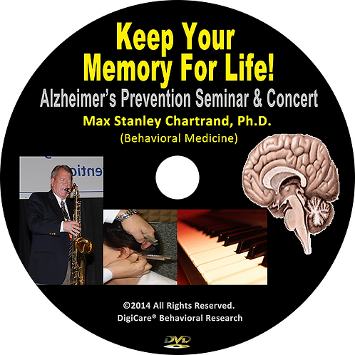 Keep Your Memory for Life! DVD by Max S Chartrand Ph.D(Behavioral Medicine)