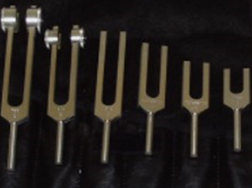 •	Tuning Fork Set Medical Grade with Leather Case (6)