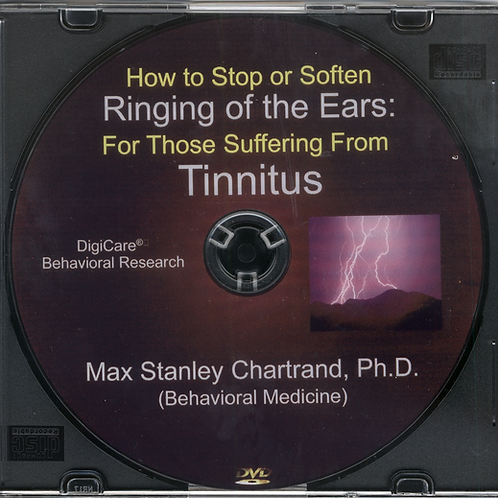 How To Stop or Soften Tinnitus by Max S Chartrand Ph.D(Behavioral Medicine)