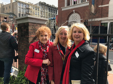 Members attend opening day ceremonies for the Museum of the American Revolution.