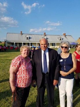 Members with Ed Rendell at Bartram's Gardens