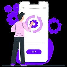 Mobile app development illustration - Rapidalley