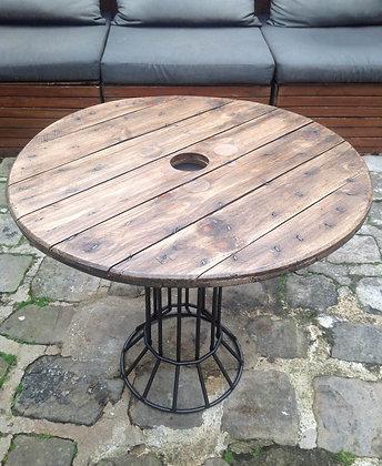 """Table """"bistrot"""" touret et pied métal - Vendu"""