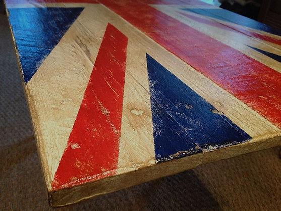 Tableau Union Jack bois vintage
