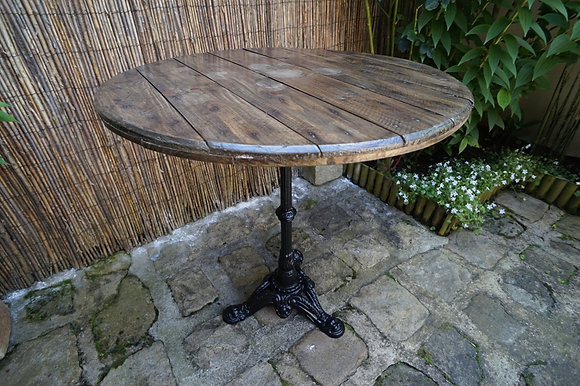 Table touret pied bistrot