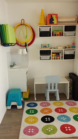 Bureau enfant de la salle de psychomotricité