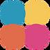 Logo du cabinet concordance: quatre couleurs, une par salle