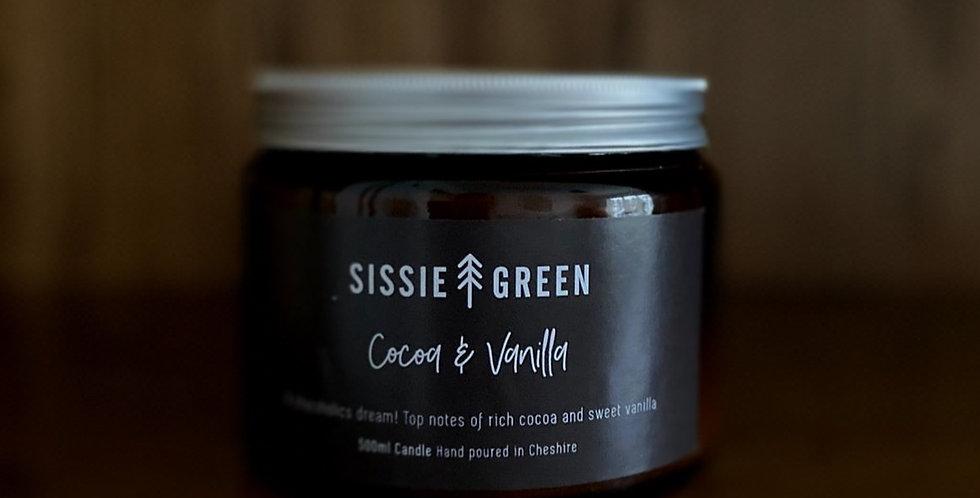 Cocoa & Vanilla Triple Wick Soy Wax Candle