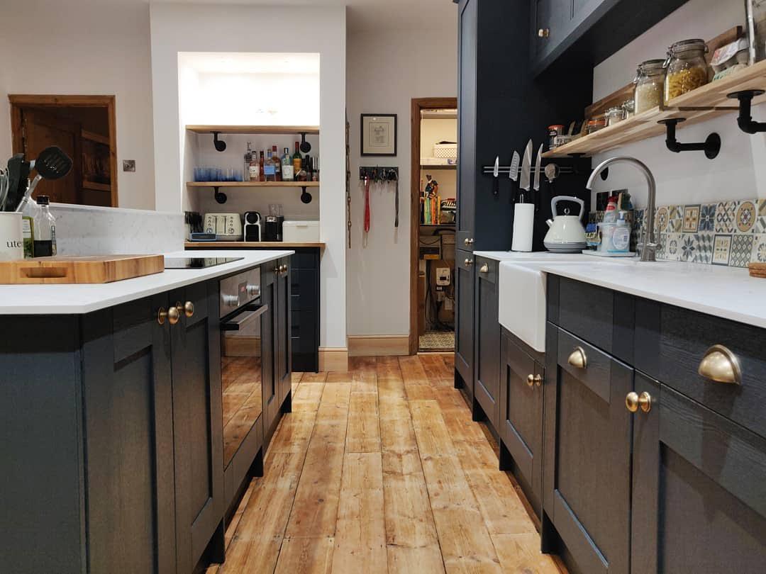 Midnight Blue Shaker Kitchen