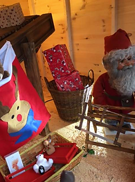 Santa's toy workshop at Christmas Tree Place 8 miles from Watford
