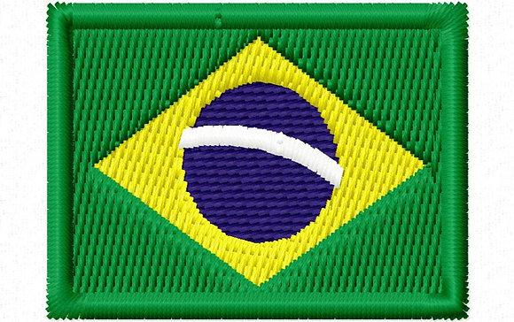 BANDEIRA BRASIL BORDADA