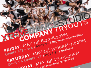 2018-2019 Xtreme Dance Company Tryouts