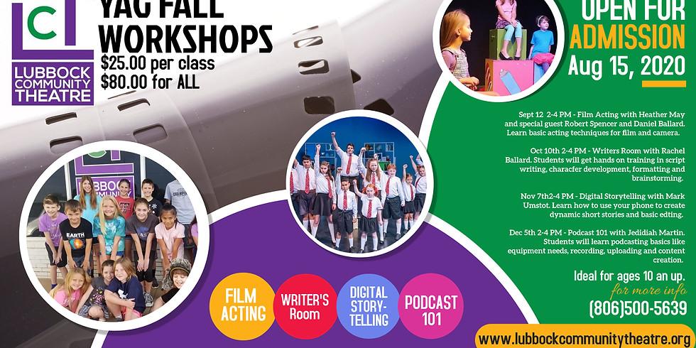 YAG Fall Workshops