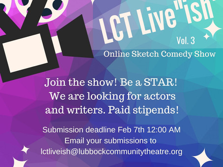 Auditions for LCT Live-ISH!