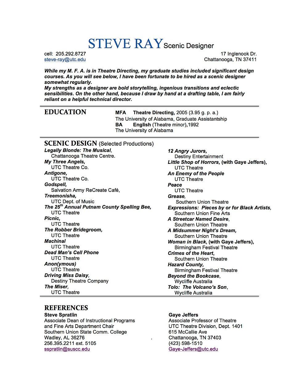 mysite design resume