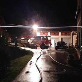 Übungsannahme Brand eines Nebengebäude
