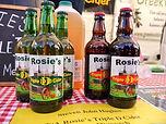 bottles of rosies cider