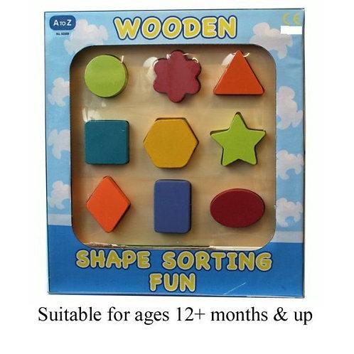 Kids Wooden Shape Sorter Puzzle Toy