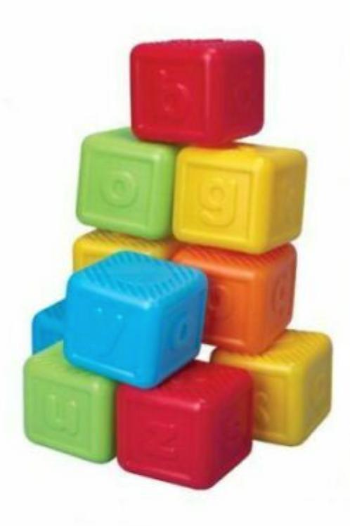 Plastic Colourful Alphabet Blocks