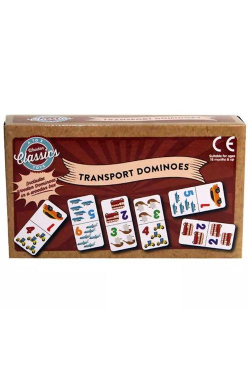 Wooden Transport Dominoes