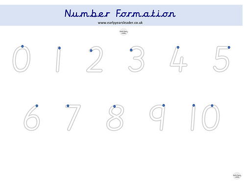 Number Formation Worksheet