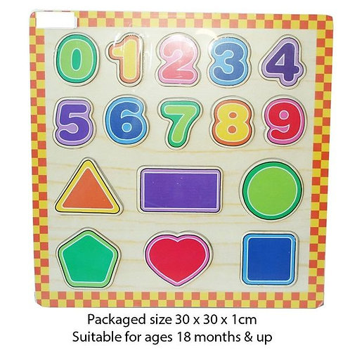 Wooden Shape & Number Sorting Puzzle