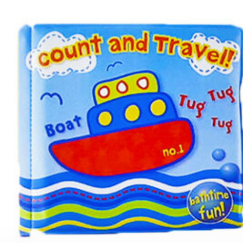 Count and Travel Bath Book