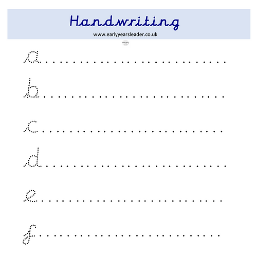 Cursive Handwriting Letters