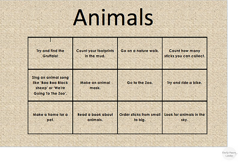 Home Learning Animals
