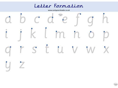 Letter Formation Worksheet
