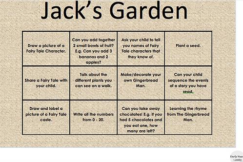 Home Learning Jack's Garden