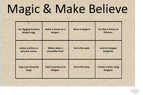 Home Learning Magic & Make Believe