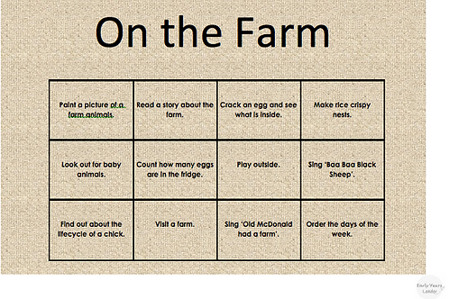 Home Learning On the Farm