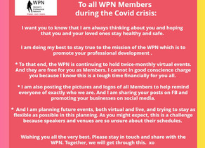 Greetings to all WPN Members