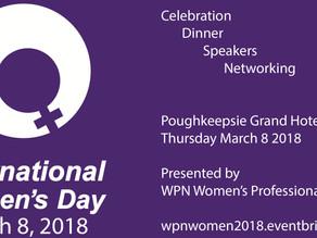 Hudson Valley Celebrates International Women's Day  March 8, 2018