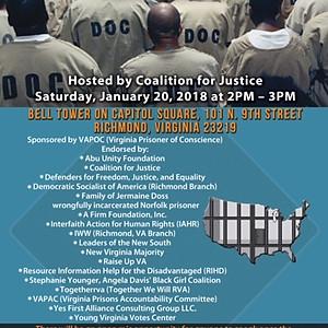Prison Reform Rally, Richmond, VA