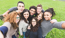 Multiethnic Group of Friends Taking Self