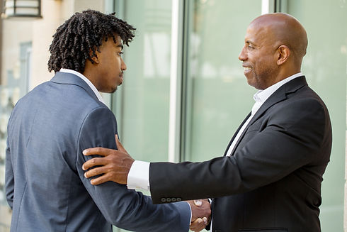 Mature African American businessman ment