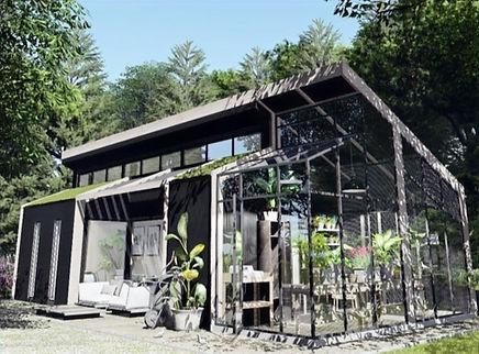 Tiny-Town, Duurzame kleine woning,huis eventueel met kas, gebouwd onder bouwbesluit, 70m2