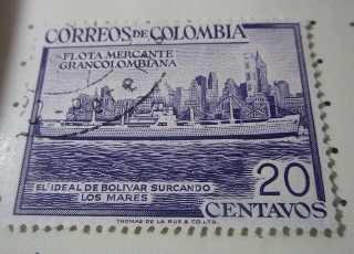 Estampilla en honor a la flota mercante grancolombiana