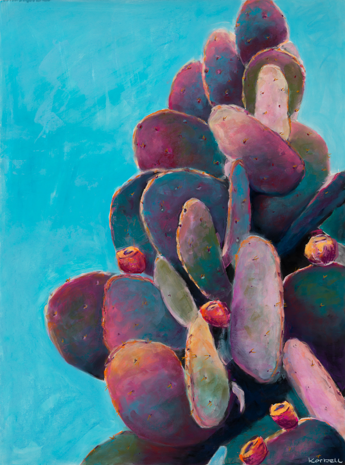 """Marfa Prickly Pear"" II Blue"