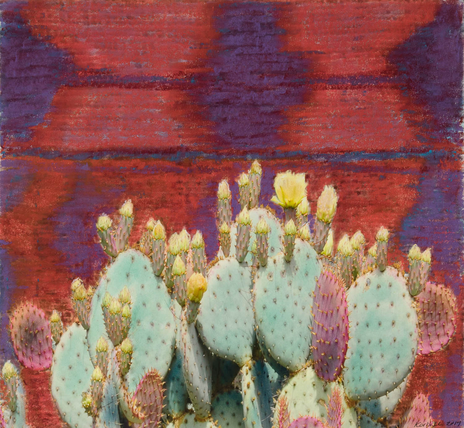 """Prickly Pear with Tapestry"""